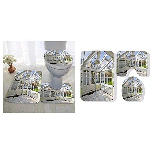 Anatoly Pastouchenko three-piece toilet seat pad custom modern winter garden with double glazed window construction