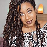 3 Pack Spring Twist Ombre Colors Crochet Braids Synthetic Braiding Hair Extensions Low Temperature Fiber (T1B 30)