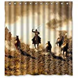 Cool Wild West Cowboy Shower Curtain 66x72 Inches Rings Included Best