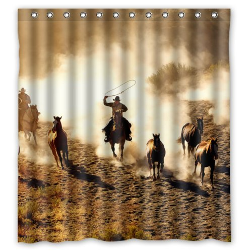 "Cool Wild West Cool Cowboy Shower Curtain 66""x72"" Inches Sho"