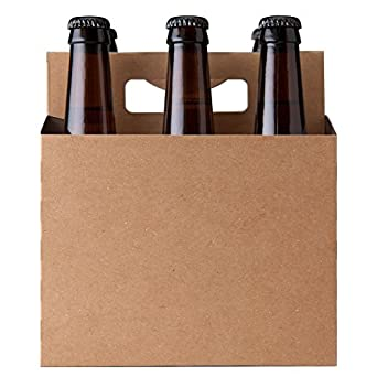 6 pack natural kraft paperboard carton carrier for 6 pack beer carrier template