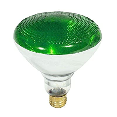 Feit Electric Outdoor Security Light Bulb, Green Incandescent Flood Light 100W 120Volt BR38