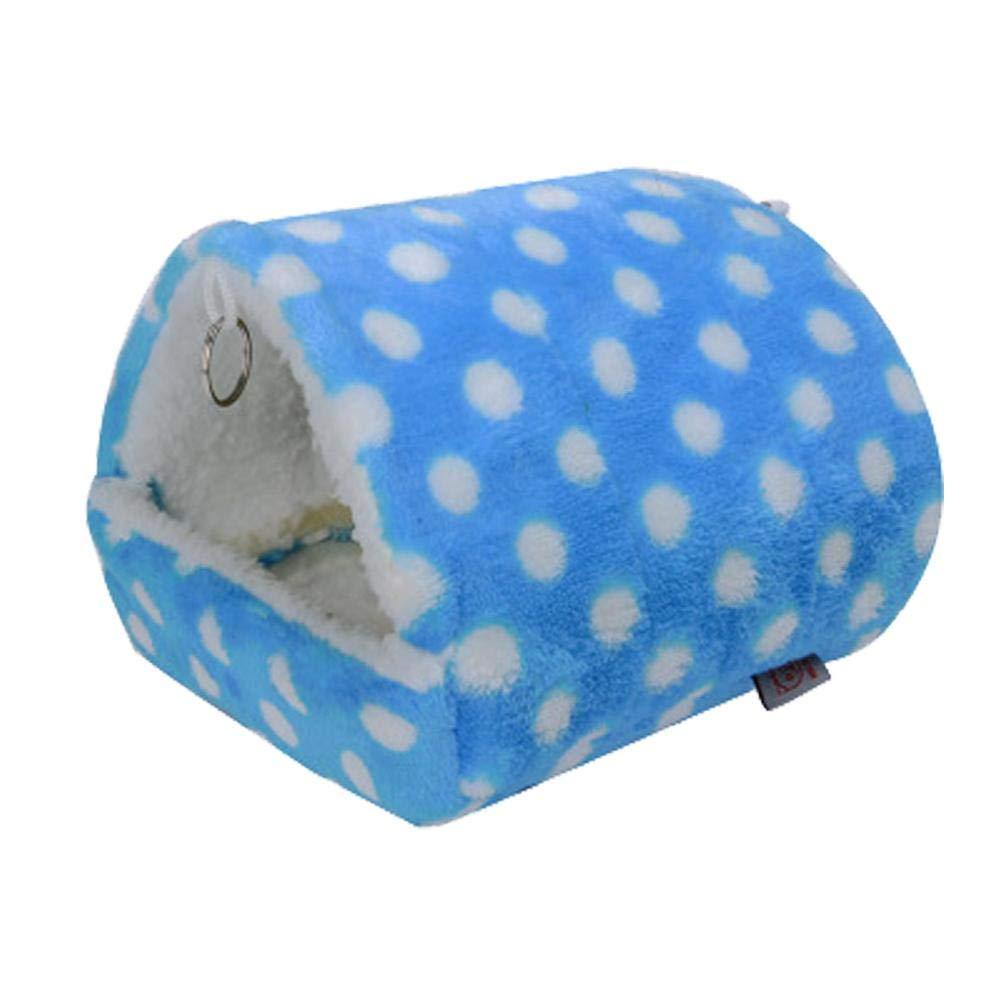 soundwinds Maison du Hamster Lit Hiver Chaud Nid Coton Cage Maison Jouet en Peluche Doux écureuil Lit pour Hamster Syrien Gerbille Rat Mouse Cochon d'Inde Lapin Animal de Petite Taille