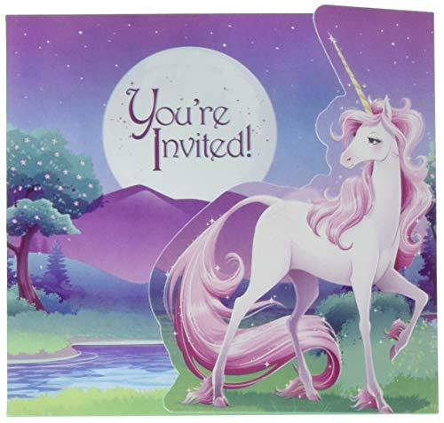 Creative Converting 895603 Unicorn Fantasy Invitations (8 Pack), One Size, Multicolor -