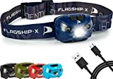 Flagship-X Phoenix Rechageable Waterproof LED Camping Headlamp Flashlight For Running - Navy Blue