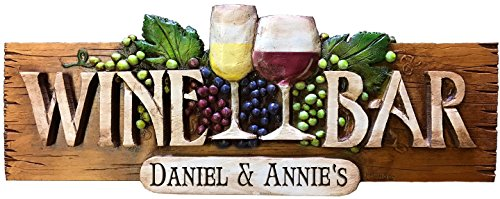 Wine Bar Personalized Wall Sign - wine decorative signs