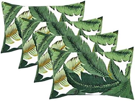 Set of 4 Indoor / Outdoor Decorative Lumbar / Rectangle Pillow