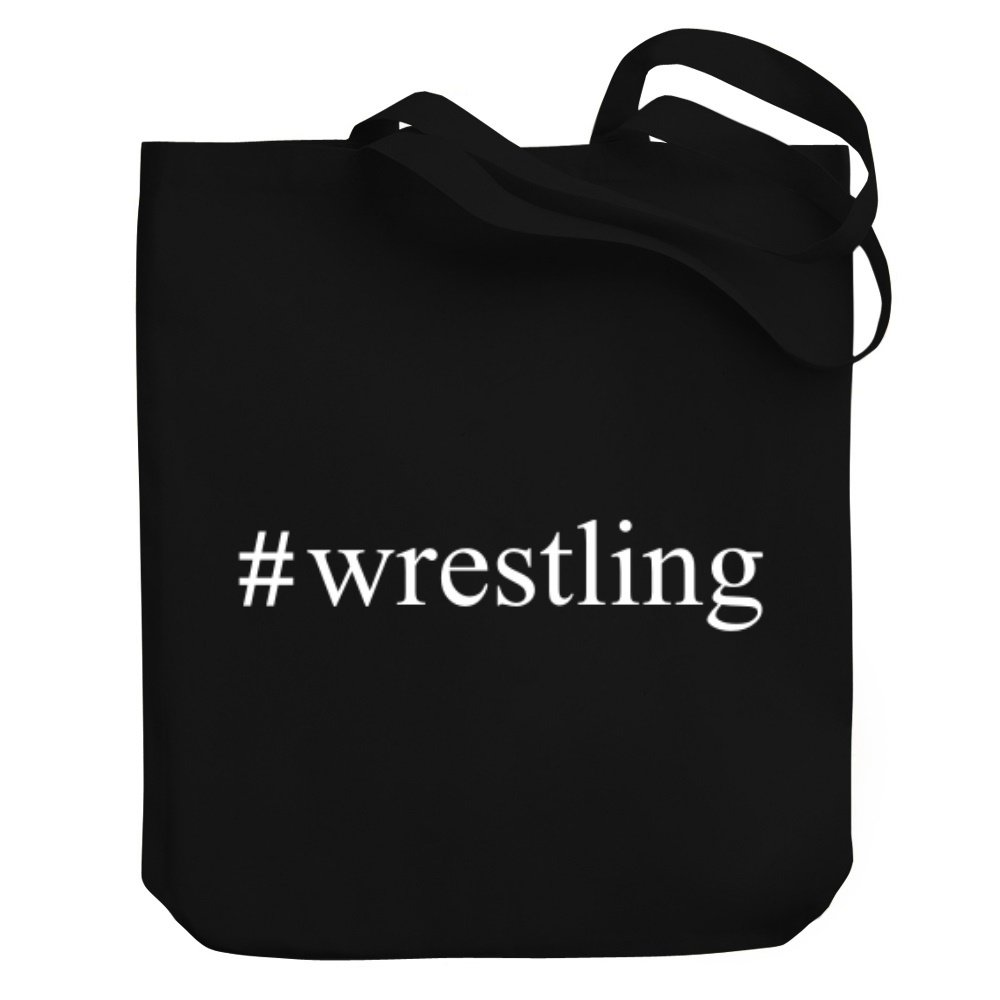 Teeburon Wrestling Hashtag Canvas Tote Bag