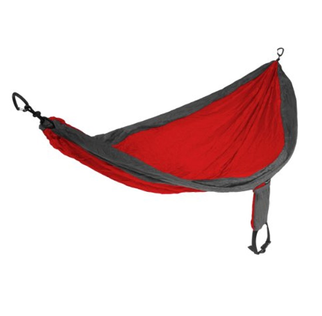 JJY Rot Dunkelgrau Plaid Tuch Hängematte Outdoor-Reisen-Ausrüstung Freizeit Camping Hängematte Indoor Freizeit Nylon Spinn Nylon