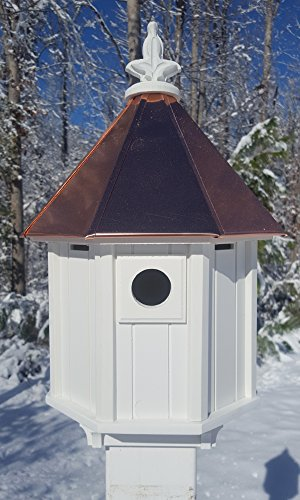 Octagon-Bird-House-Song-Bird-Cellular-PVC-Copper-Roof-Made-In-the-USA