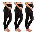 - 1, 2, and 3 Pack Gift Set - Stretch Maternity Leggings Seamless Solid Color Nursing Clothes Tights (3 Pack Maternity Leggings Black, ONE SIZE FITS ALL (MATERNITY))