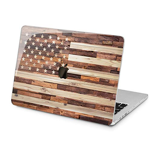 Lex Altern Hard MacBook Pro 15 Case Air 13 inch Mac Retina 12 11 2019 2018 2017 2016 2015 Wooden American Flag Touch Bar Print Plastic Patrioric Protective Laptop Apple Cover Design Men Stars Stripes