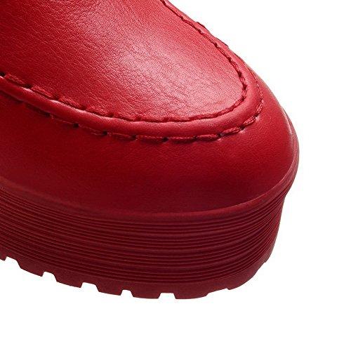 Heighten BalaMasa Ladies Bottom Skidding Imitated Inside Leather Anti Platform Boots Red OgOqI