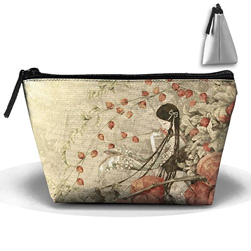 Samcoper Trapezoidal Capacity Storage Makeup Bag Chinese Girl Portable Hand Travel Wash Bag -