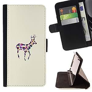 For Samsung Galaxy Note 5 5th N9200 Case , Art Dot minimalista Acuarela- la tarjeta de Crédito Slots PU Funda de cuero Monedero caso cubierta de piel