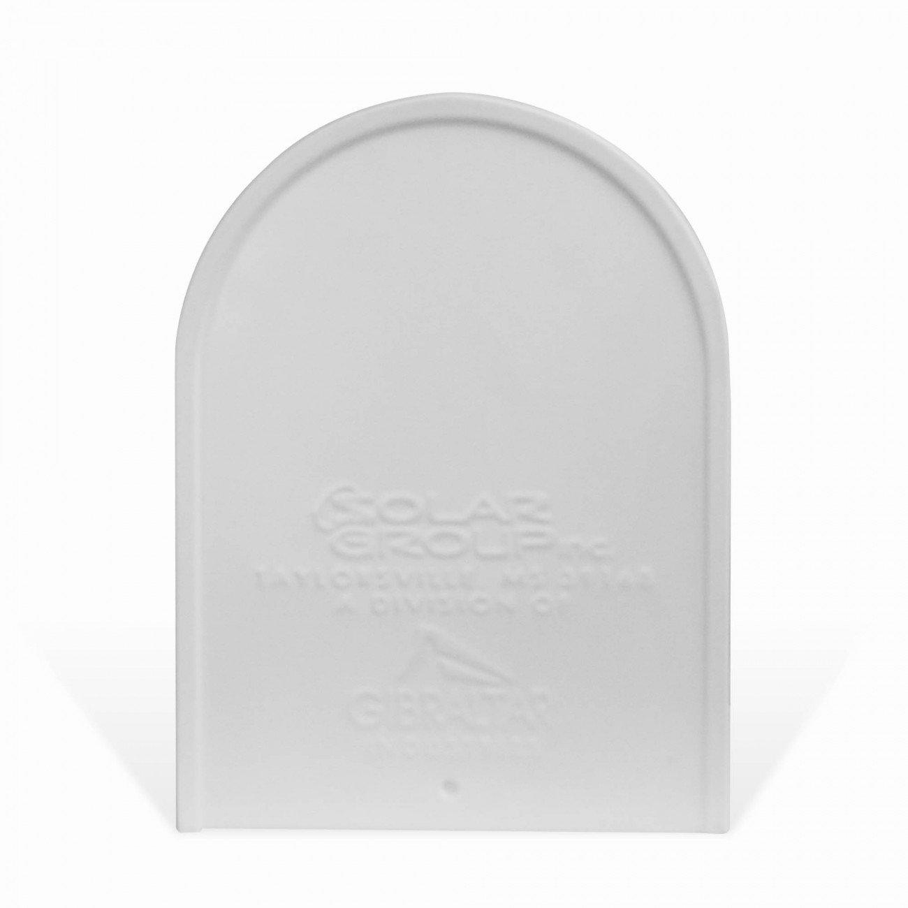 BANJADO US Mailbox mit Motiv Wunschmotiv Amerikanischer Briefkasten 51x22x17cm Briefkasten:ohne Standfu/ß Letterbox Stahl wei/ß