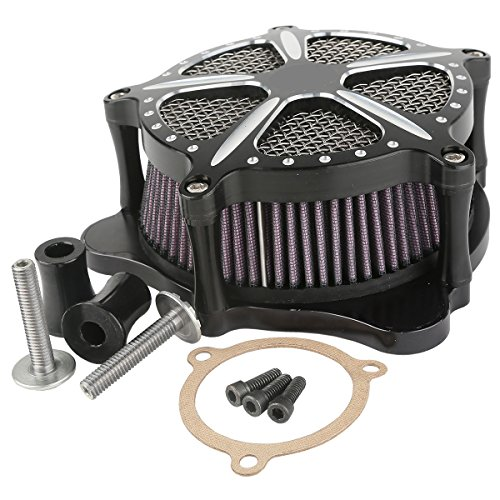 XMT-MOTO Speed-5 CNC Deep Cut Air Cleaner Filter For Harley Touring FLHR FLHT FLHX 2008-2016 by XMT-MOTO (Image #7)'