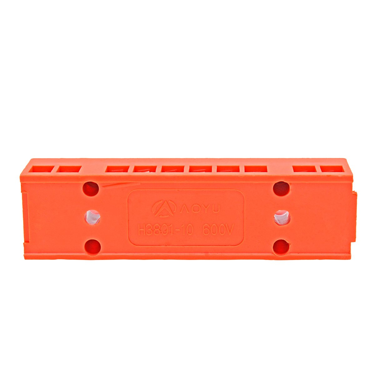 8 Positions Screw Terminal,6Pcs 600V 36A Double Row Electric Barrier Strip Block ABS Connector