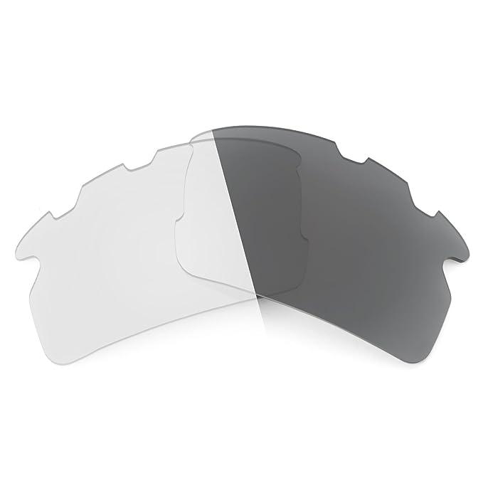 1e2c950649 Revant Replacement Lenses for Oakley Flak 2.0 Vented Elite Adapt Grey  Photochromic  Amazon.co.uk  Clothing