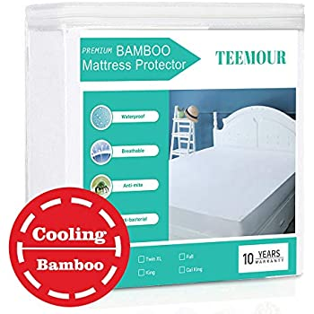 King Size Bamboo Mattress Protector Cooling Hypoallergenic Waterproof Mattress Protector Pad Cover Cooling Mattress Protector --Fitted 8