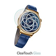 Huawei Watch Jewel Screen Protector, BoxWave® [ClearTouch Glass] 9H Tempered Glass Screen Protection for Huawei Watch Jewel, Elegant