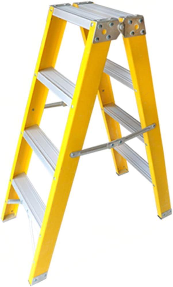 Escalera plegable Escalera de almacén, Escalera doble de seis lados Escalera metálica de cinco escalones Escalera plegable de tres pasos para el hogar Multifuncional (Tamaño : 46 * 90 * 114CM): Amazon.es: Bricolaje y herramientas