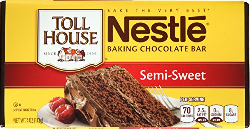 Toll House Semi-Sweet Chocolate Baking Bar, 4 oz (Chocolate Semi Sweet Bar)