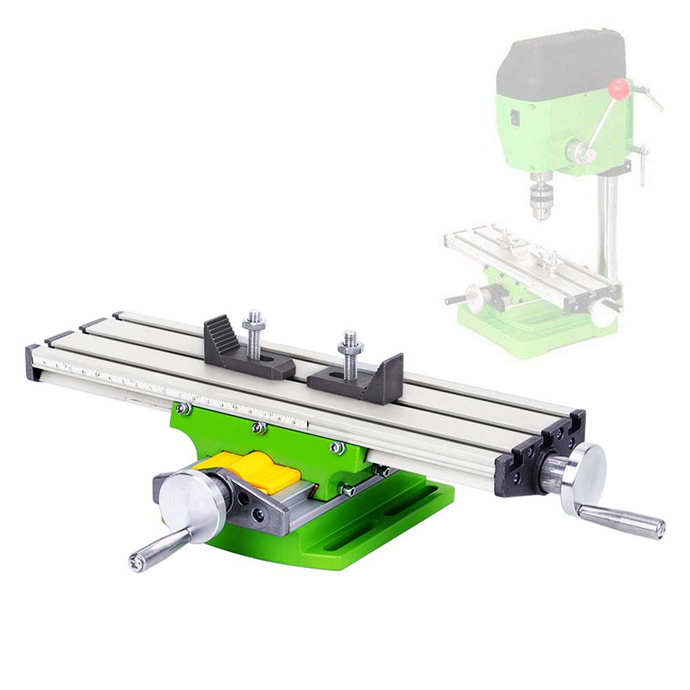 Mini Multifunction Worktable Milling Working Cross Table Milling Machine Compound Drilling Slide Table for Bench Drill Adjustme X-Y, Working Area: 330× 95mm Working Area: 330×95mm TopDirect