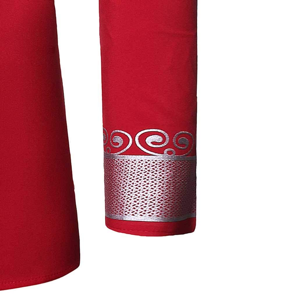 FakMe Fashion Mens Slim Fit Printed Muscle Long Short Sleeve Tee T-Shirt Casual Medium Length Shirt