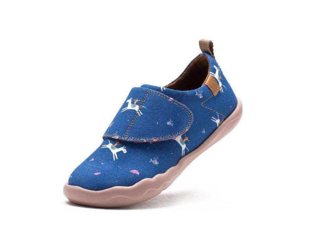 UIN Kid's Star Ocean Canvas Walking Shoe Blue (Little Kid) (8)