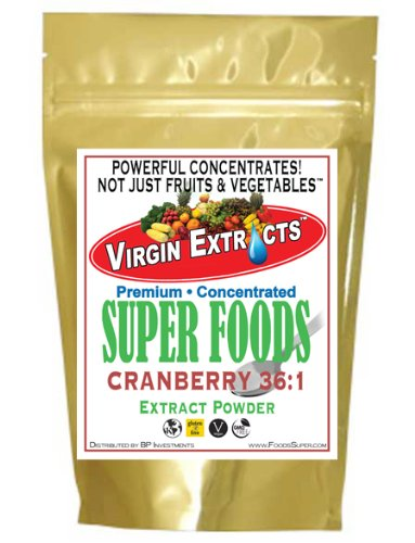 Virgin Extracts (TM) Pure Premium Organic Cranberry Powder Extract 36:1 Concentrate (36 x Stronger For People & Pets) 8oz (227 Grams .08 Per Gram)