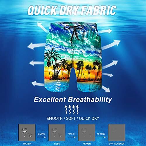 3d Stampa Uomo Costume Surf S 3xl coconut La Con Spiaggia Di Da Alisister 4 Tronchi O Per Pantaloncini Bagno edCoBx