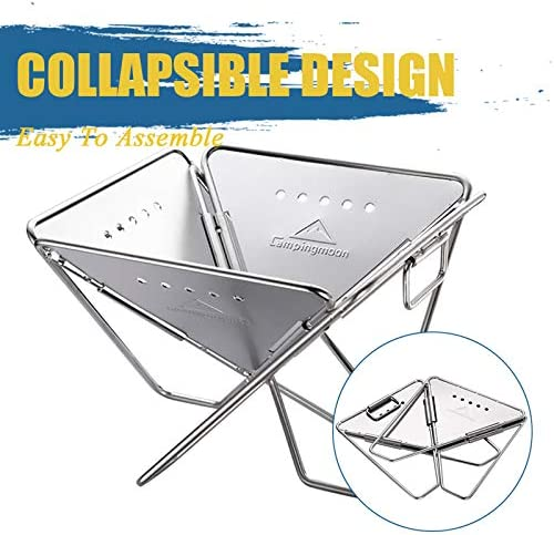 TeRIydF Portable Stainless Steel Barbecue Stove Folding Barbecue Grill Outdoor Barbecue Stove Camping Picnic Barbecue Tool Barbecue Accessories