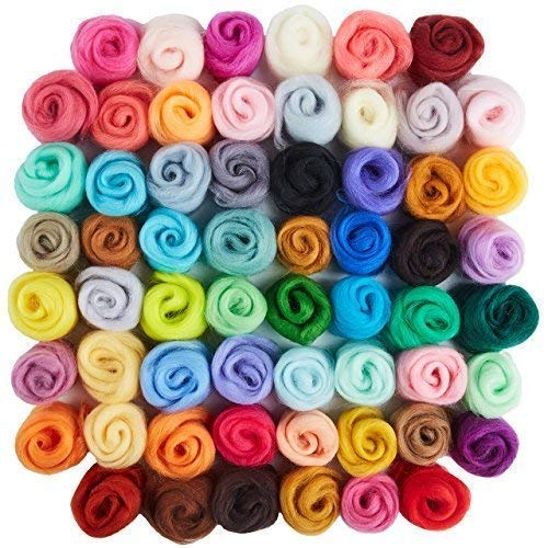 60 Colors Wool Roving | Felting Wool | Yarn Roving | Roving Wool | Needle Felting Wool | Fibre Wool | Discovering DIY