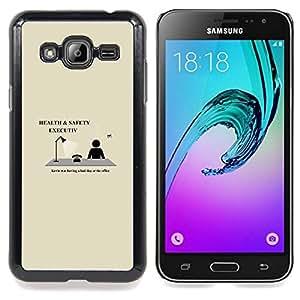 """Qstar Arte & diseño plástico duro Fundas Cover Cubre Hard Case Cover para Samsung Galaxy J3(2016) J320F J320P J320M J320Y (Salud y Seguridad Ejecutiva - Gracioso"""")"""