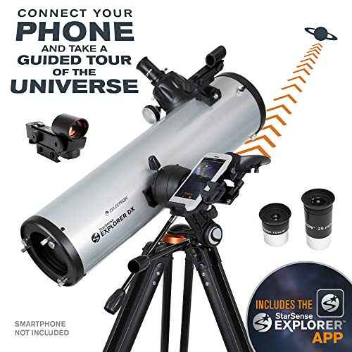 Celestron - StarSense Explorer DX 130AZ Smartphone App-Enabled Telescope - Works with StarSense App to Help You Find Stars, Planets & More - 130mm Newtonian Reflector - iPhone/Android Compatible
