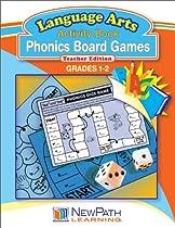 NewPath Learning Phonics Board Games Reproducible Workbook, Grade 1-2