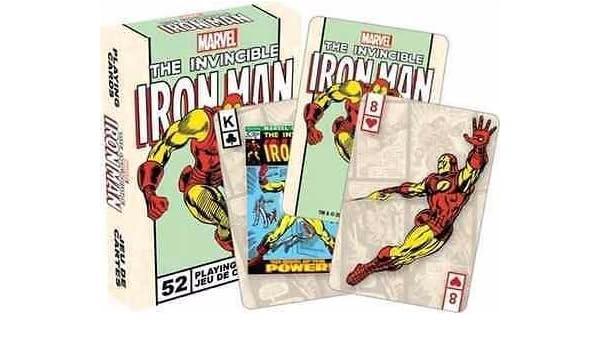 Marvel el invencible Iron Man Retro Juego de cartas por ...