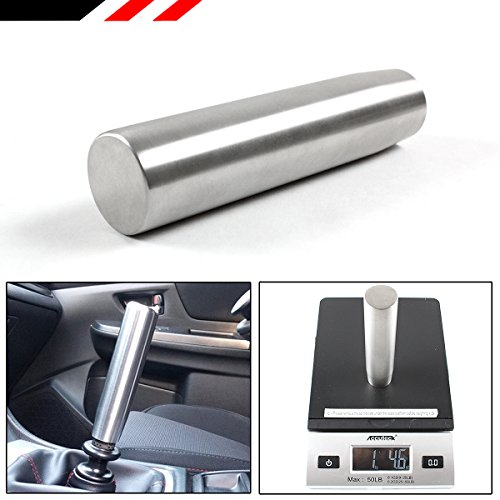 5 Inch Long Grip JDM Brushed Stainless Steel Heavy Weighted Countersunk Shifter Gear Knob Selector