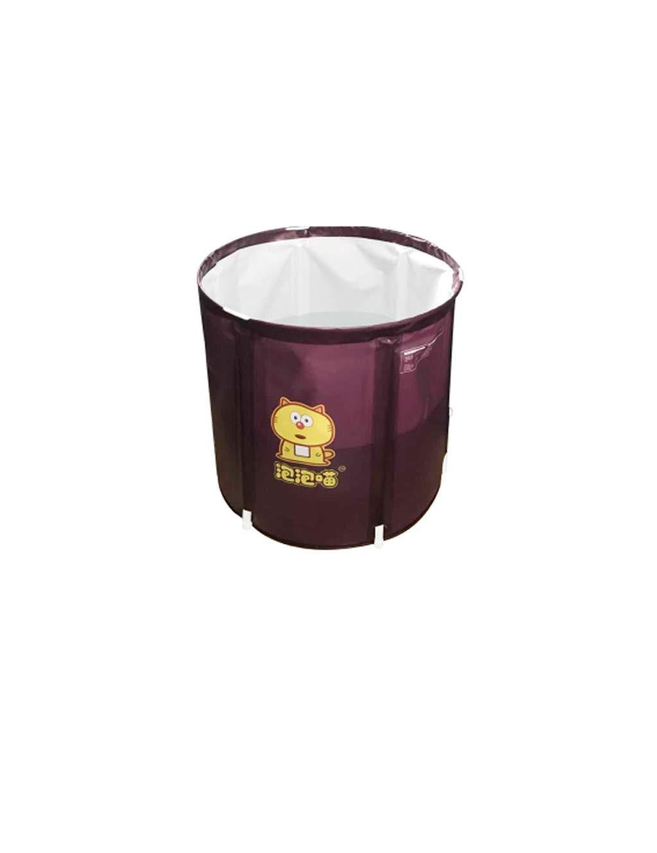 ESPERANZAXU Aufblasbare Badewanne Falten PVC Kunststoff Portable Erwachsenen Jacuzzi, Spa SPA Wanne (lila, 65cmx65cm) (größe : S)