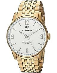 Armitron Mens 20/5231WTGP Date Function Gold-Tone Bracelet Watch