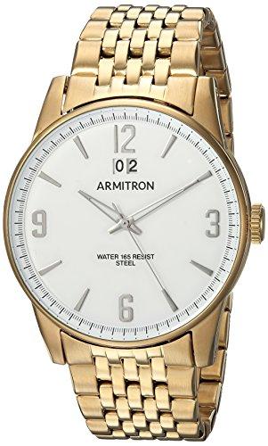 (Armitron Men's 20/5231WTGP Date Function Gold-Tone Bracelet Watch)