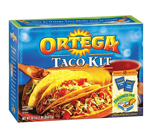 Ortega Taco Dinner Kit 18 Taco Shells 16.7 Oz. Pack Of (Ortega Taco Dinner)
