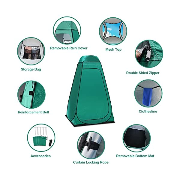 Camping Toilettenzelt riggoo Duschzelt Pop Up Umkleidezelt Privatsphäre Toilette Umkleidekabine Lagerzelt Mobile Outdoor…