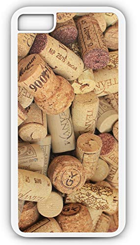 iPhone 7 Plus 7+ Case Champagne Cork Wine Corks Wine Bottle Customizable by TYD Designs in White Plastic Black Rubber Tough Case ()