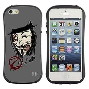 Suave TPU GEL Carcasa Funda Silicona Blando Estuche Caso de protección (para) Apple Iphone 5 / 5S / CECELL Phone case / / Z For Zombie /