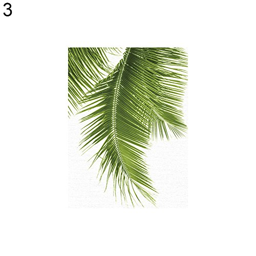 dezirZJjx Modern Canvas Painting£¬Modern Artwork Wall Art Paintings, Fashion Palm Leaf Canvas Frameless Painting Home Office Wall Art Decoration - 3# 21x30cm
