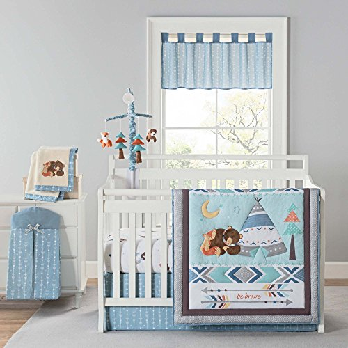 Laugh Giggle & Smile Be Brave 4 Piece Crib Bedding Set ()