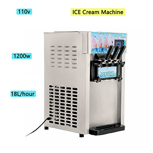 - Zinnor Ice Cream Machine,Commercial Small Desktop Soft Ice Cream Making Machine,110V / 60Hz 18L/H Ice Cream Machine (Number A)