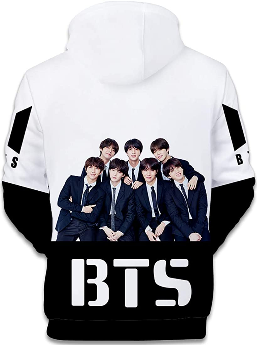 KPOP BTS WORLD-Lights 3D Hoodie Casual Sports Sweatshirt Pullover Coat XXS-4XL